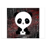 Panda Bear on Black and Red Invitations