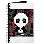 Panda Bear on Black and Red Journal
