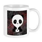 Panda Bear on Black and Red Mugs