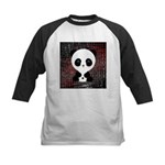 Panda Bear on Black and Red Baseball Jersey