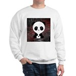 Panda Bear on Black and Red Sweatshirt
