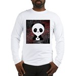 Panda Bear on Black and Red Long Sleeve T-Shirt