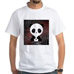 Panda Bear on Black and Red T-Shirt