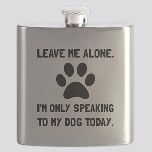 Alone Speaking Dog Flask