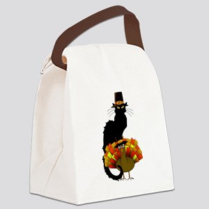 Thanksgiving Le Chat Noir With Tu Canvas Lunch Bag
