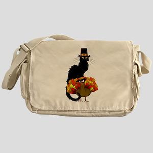 Thanksgiving Le Chat Noir With Turke Messenger Bag