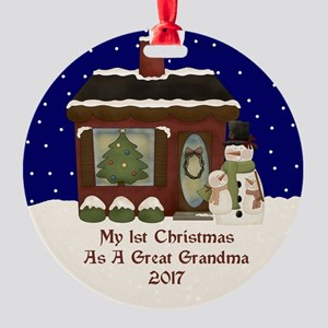 1St Christmas As A Great Grandma 2017 Ornament