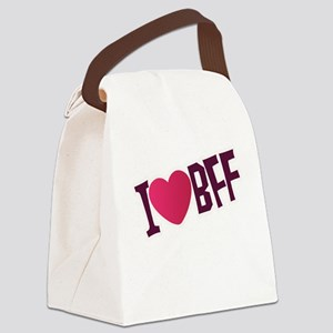 I HEART BFF COUPLES DESIGN Canvas Lunch Bag