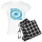 Teal and White Swirl Pajamas