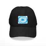 Teal and White Swirl Baseball Hat