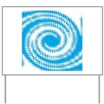 Teal and White Swirl Yard Sign