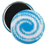 Teal and White Swirl Magnets