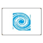 Teal and White Swirl Banner