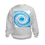 Teal and White Swirl Sweatshirt