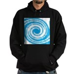 Teal and White Swirl Hoodie