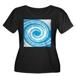 Teal and White Swirl Plus Size T-Shirt