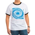 Teal and White Swirl T-Shirt