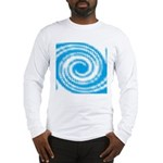 Teal and White Swirl Long Sleeve T-Shirt