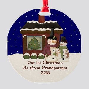 1St Christmas As Great Grandparents 2018 Ornament