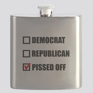 Pissed Off Voter Flask