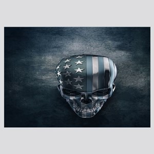 American Flag Skull Wall Art
