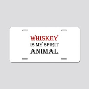 Whiskey Spirit Animal Aluminum License Plate