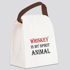 Whiskey Spirit Animal Canvas Lunch Bag