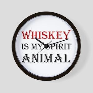 Whiskey Spirit Animal Wall Clock