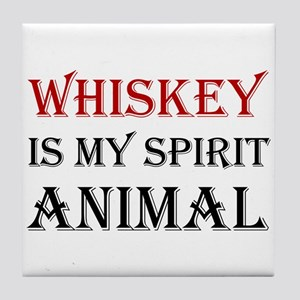 Whiskey Spirit Animal Tile Coaster