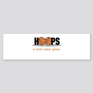 Hoops A Real Mans Game Bumper Sticker