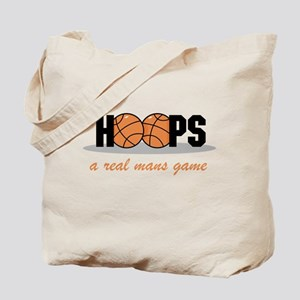 Hoops A Real Mans Game Tote Bag