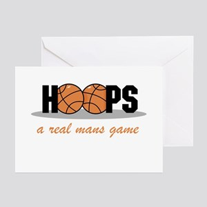 Hoops A Real Mans Game Greeting Cards (Package of