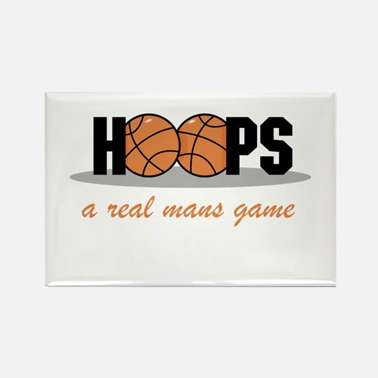 Hoops A Real Mans Game Rectangle Magnet