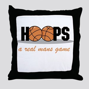 Hoops A Real Mans Game Throw Pillow