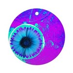 Purple Blue Ornament (Round)
