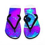 Purple Blue Flip Flops