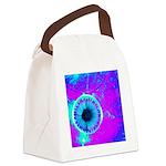 Purple Blue Canvas Lunch Bag
