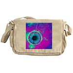 Purple Blue Messenger Bag