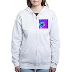 Purple Blue Zip Hoodie