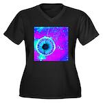 Purple Blue Plus Size T-Shirt