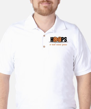 Hoops A Real Mans Game Golf Shirt