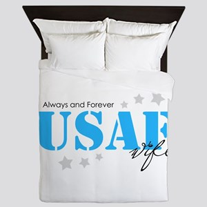 USAF Wife - Always and Forever Queen Duvet