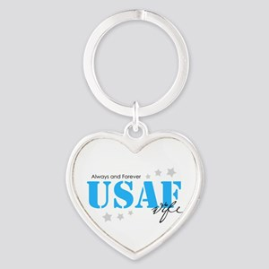 USAF Wife - Always and Forever Keychains