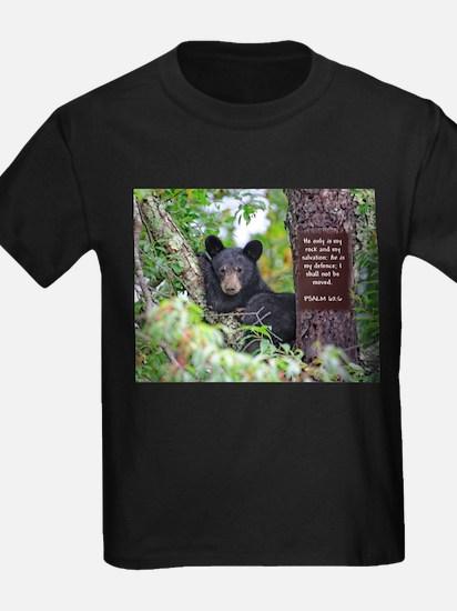 Baby Black Bear - Psalms 62-6 T-Shirt