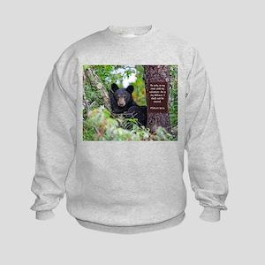 Baby Black Bear - Psalms 62-6 Sweatshirt