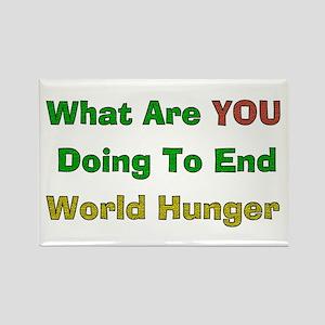 World Hunger Rectangle Magnet