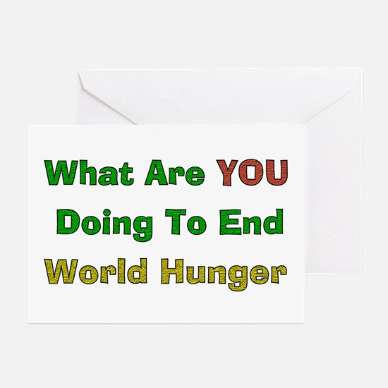 End World Hunger Greeting Cards (Pk of 10)