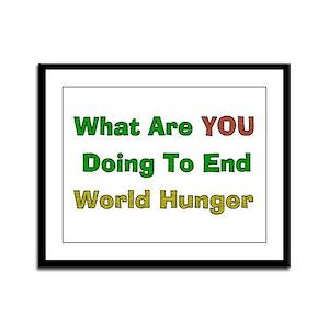 World Hunger Framed Panel Print