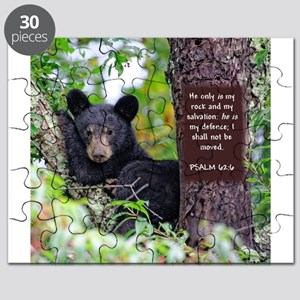 Baby Black Bear - Psalms 62-6 Puzzle