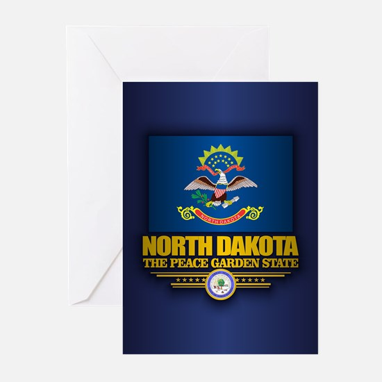 North Dakota (v15) Greeting Cards